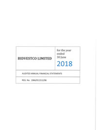 Bidvestco Limited audited annual financial statements for the year ended June 30 2017